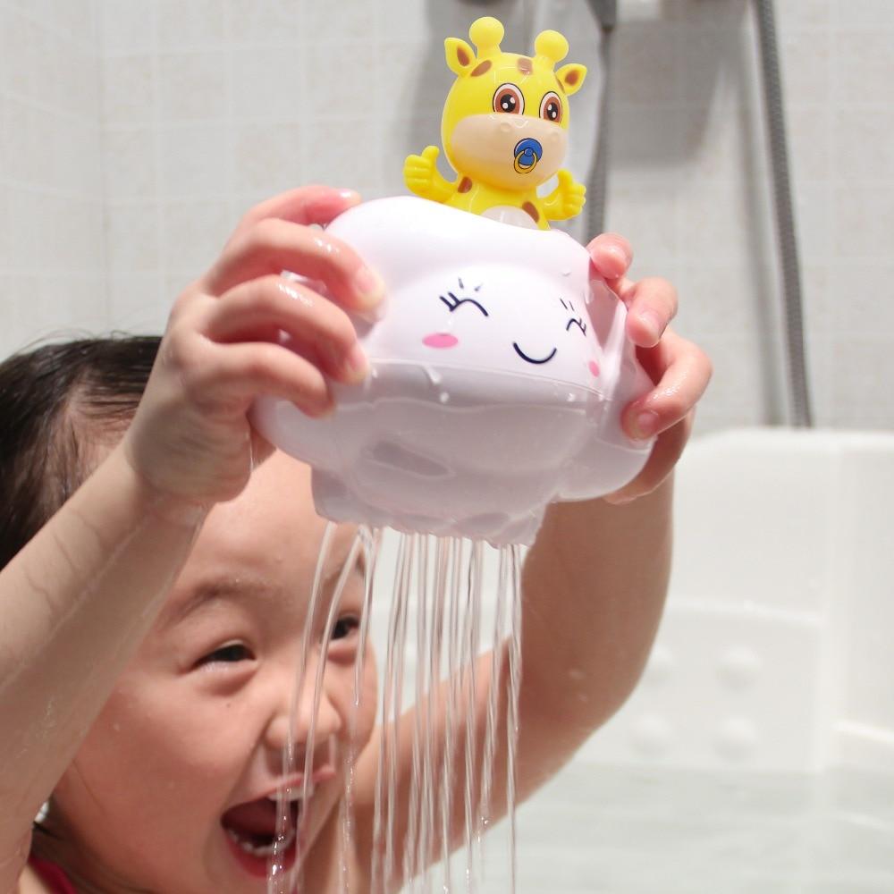 Baby Kids Bath Toys Floating Cute Cartoon Rain Clouds With Deer Bathtub Shower Toys Kids Play Water Game Beach Bath Toys