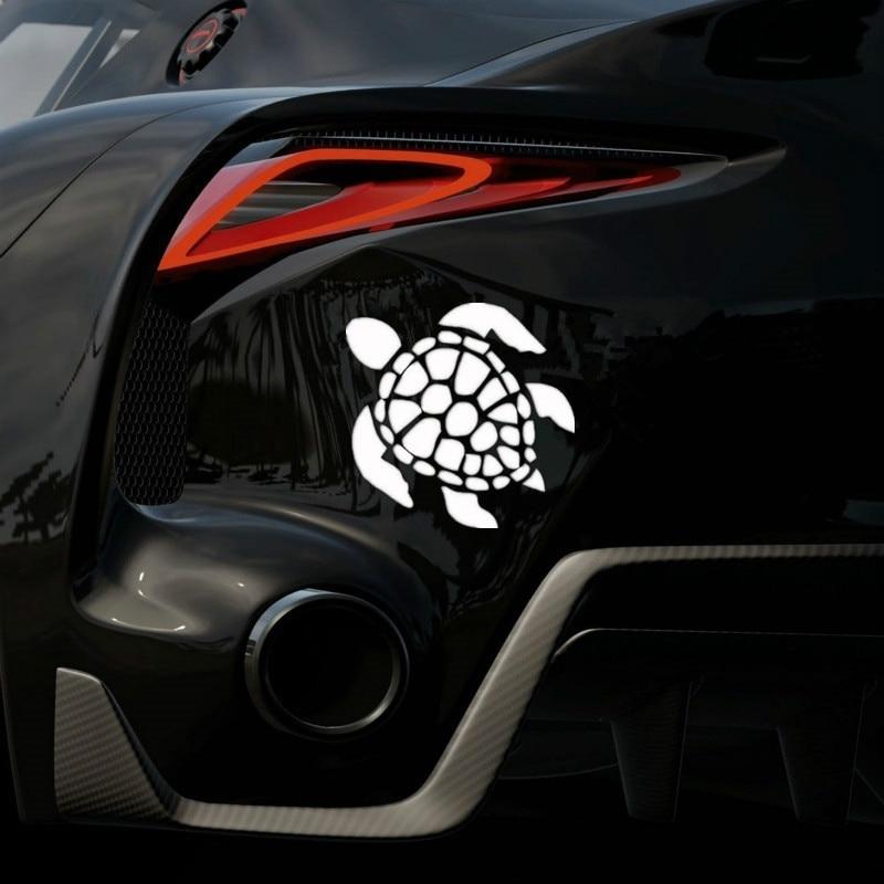 Etiqueta engomada del cuerpo del parachoques de la ventana del coche de la tortuga del mar de Hawaii de la playa Jew164 12x12 cm