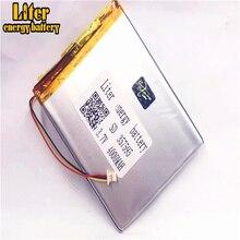 Batterie lithium polymère rechargeable, 1.0MM, avec connecteur 3 broches, 357595 mah, 4000 V, 3.7 mah, pour tablette pc de 7 pouces