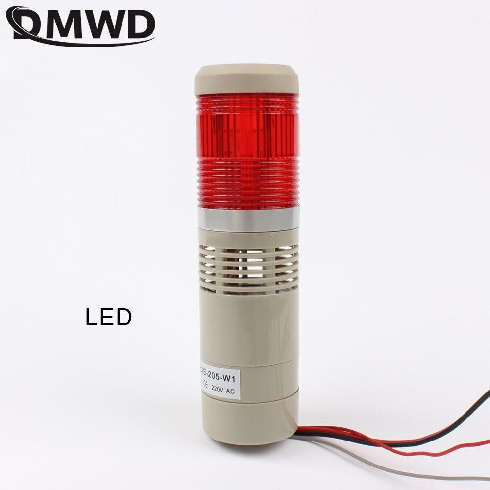 110V 220V 12V 24V LED apilamiento seguridad lámpara rojo verde amarillo Flash Torre industrial luz de señal LTA-205 luz roja indicadora