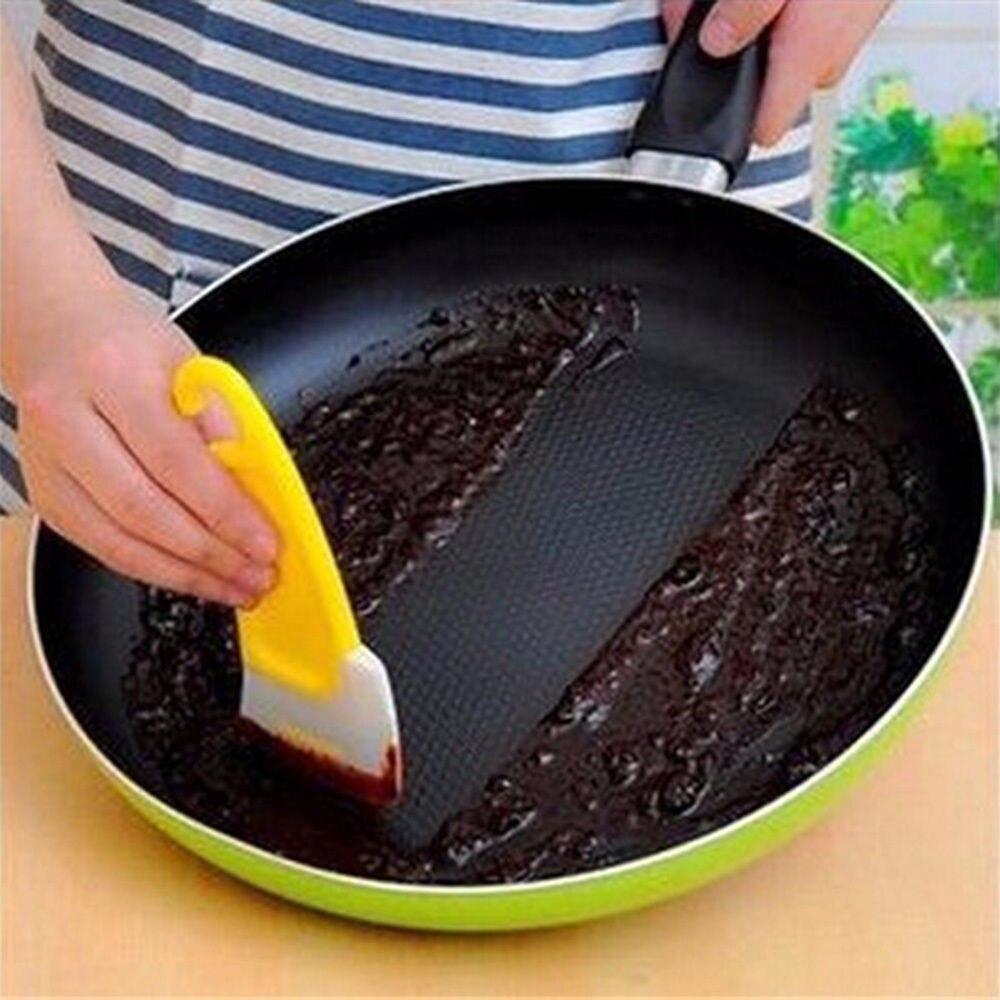 Pan Limpeza Raspador Espátula de Silicone Cozinha Bolo Ferramenta Baking Pastry Espátulas