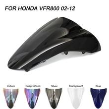 Schwarz Motorrad Motorrad Windschutzscheibe Für Honda VFR800 VFR 800 2002-2012 2002 2003 2004 2005 2006 Windschutz Wind Deflektoren