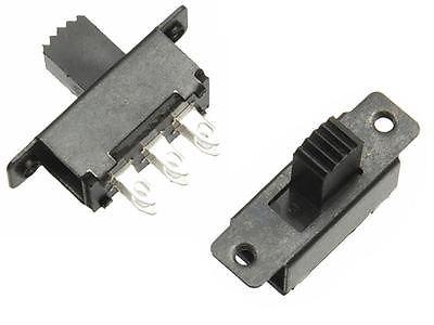 10 pz pin DPDT Interruttore A Scorrimento In Miniatura 125VAC Mini PCB Latch Treno Segnale 12 V 24 V 6 V Diapositiva interruttore