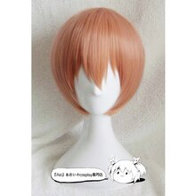 Peluca de Cosplay de alta calidad Love Live Rin Hoshizora, peluca corta de pelo sintético Rosa naranja resistente al calor, peluca de Cosplay + gorro de peluca