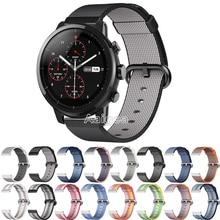 Bracelet en Nylon tissé avec boucle respirante pour Huami Amazfit Strato montre de sport 2 bracelet coloré pour bracelet de montre sport amazfit
