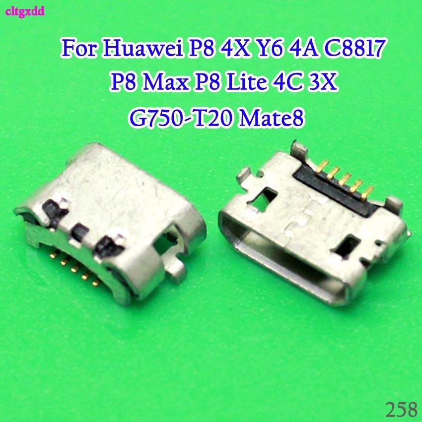 20 unids/lote Micro USB puerto de carga Dock conector para Huawei P8 4X Y6 4A C8817 P8 Max P8 Lite 4C 3X Pro G750-T20 Mate8