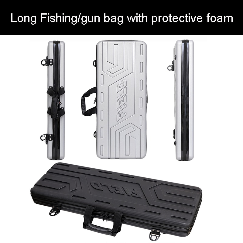 high quality Tool case long case outdoors luggage Fishing bag gun case box plastic toolbox safety box suitcase with foam lining
