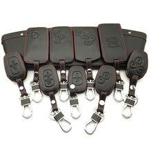 Coque en cuir pour clés de voiture   Housse de Style de voiture pour Renault Megane Clio Logan Kadjar Scenic Koleos porte-clé carte de voiture, accessoires pour clés de voiture