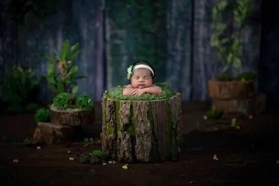 Verde recém-nascido fluff nuvem cesta enchimento ninho stuffer pano de fundo fotografia prop acessórios infantil studio shoot foto adereços 200g
