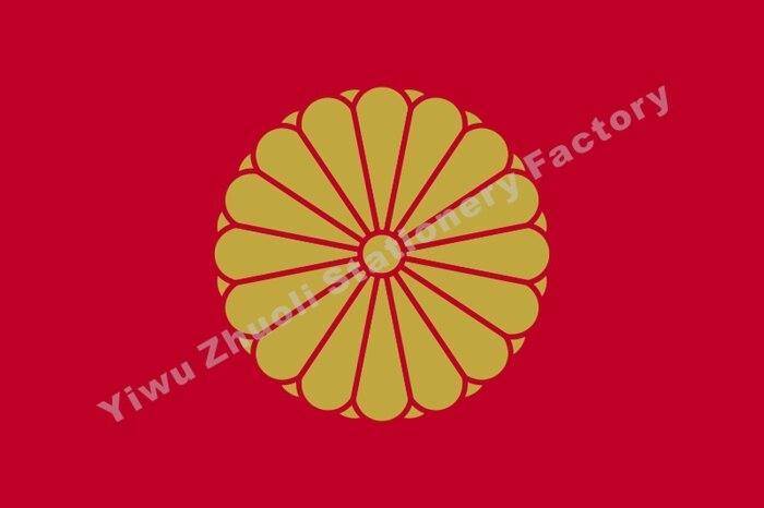 Imperador japonês Bandeira 150X90 cm (3x5FT) 120g 100D Poliéster Dupla Costura de Alta Qualidade Frete Grátis