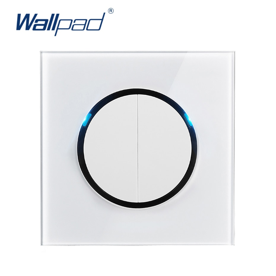 Настенный светильник Wallpad L6, светодиодный, с индикатором, из закаленного стекла