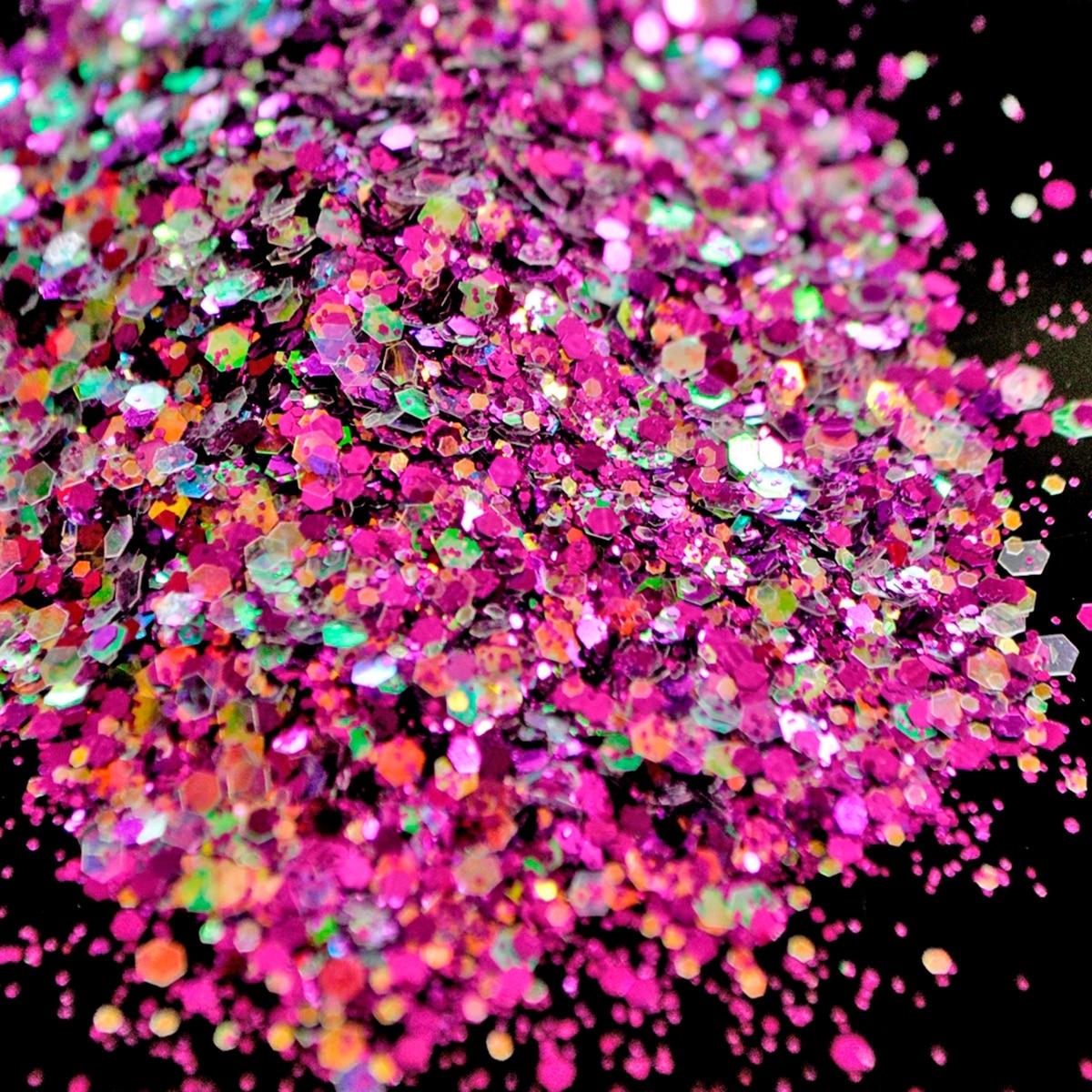 Esmalte de brillo para uñas blanco púrpura Rosa iridiscente polvo brillante lentejuelas acrílico uñas arte punta herramienta de decoración