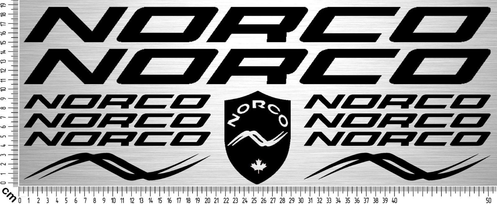 For 11x NORCO BIKES Sticker Set   Fahrrad Rahmen Aufkleber   Bike Frame Sticker   11 Stk Car Styling
