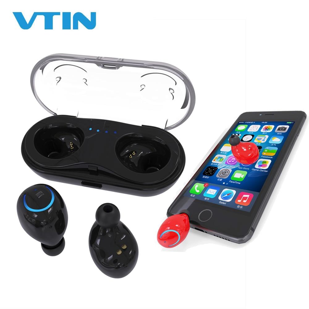 VTIN-auriculares TWS, inalámbricos por Bluetooth, auriculares gemelos con reducción de ruido y caja de carga en negro, blanco y rojo