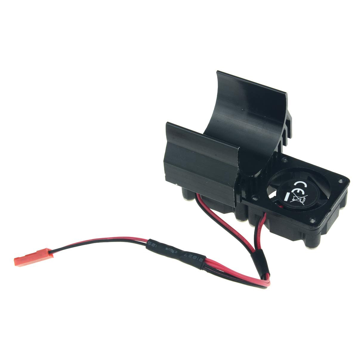RC1/10 Auto Parts RC 540/550 Motor Aluminum Radiator Dual 30 mm Cooling Fan for HPI Truck Rock Track Traxxas 1/10 Slash rc Model enlarge