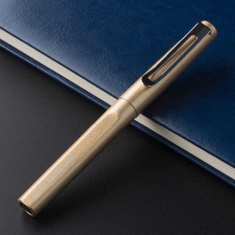 Высококачественная Золотая Серебряная металлическая шариковая ручка в деловом стиле средний наконечник серебряный зажим шариковая ручка ...
