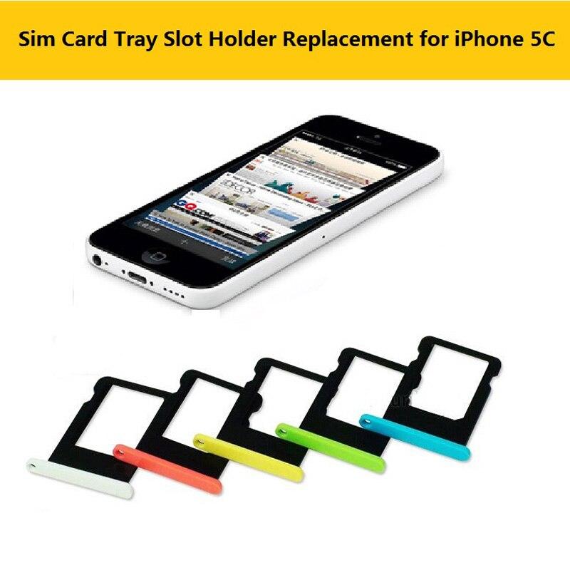 Bandeja de tarjeta Sim colorida, recambio de soporte de ranura para Apple iphone 5C, ranura para tarjeta Sim, bandeja de tarjeta para cubrir iphone 5C, accesorios