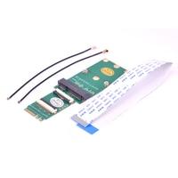 A E מפתח NGFF כדי מיני pcie אלחוטי רשת כרטיס מתאם 5G M.2 WiFi חריץ כדי mPCIe wifi Bluetooth riser עם FPC הארכת כבל