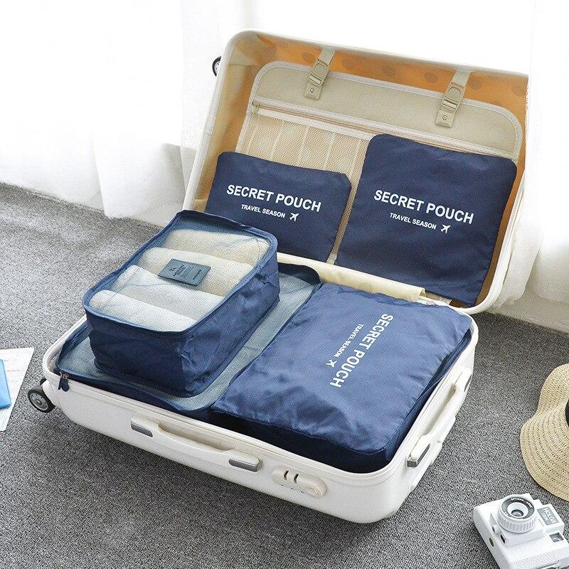 6Pcs/Set Women Storage Bag For Bra Underwear Socks Secret Pouch Travel Luggage Storage Organizer Bags Container For Shoes