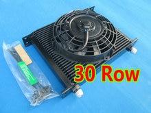 "NEW performance FOR Universal 30 Row 10 AN Black Transmission Oil Cooler + 7"" Electric Fan SUBARU 3000GT WRX STI"