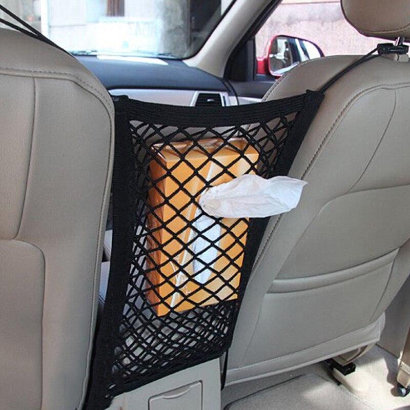 Elástico fuerte del coche de malla bolsa de red entre el coche para Mercedes Benz W202 W220 W204 W203 W210 W124 W211 W222 x204 AMG CLK