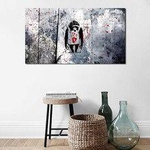Dj Monkeies tapeta na płótnie malarstwo drukuj sypialnia biuro dekoracja wnętrz nowoczesny obraz olejny na ścianę plakat Salon zdjęcia