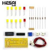 Lm3915 10 led 사운드 오디오 스펙트럼 분석기 레벨 표시기 키트 diy 전자 납땜 연습 세트