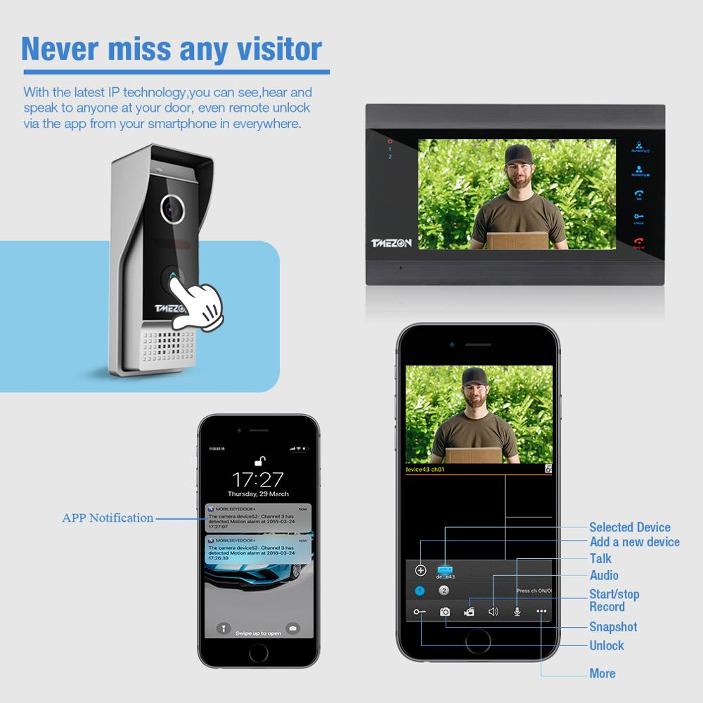 TMEZON Wired Doorbell Video Outdoor Unit 1200TVL (need to work with Tmezon IP 7 inch intercom monitor, cannot work alone) enlarge