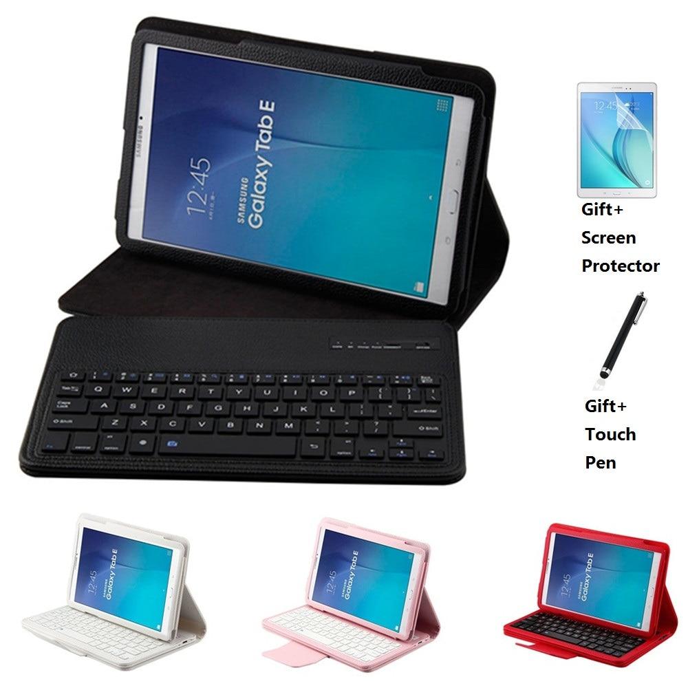جراب مغناطيسي قابل للإزالة مع لوحة مفاتيح بلوتوث لهاتف Samsung Galaxy Tab E 9.6 T560 T561