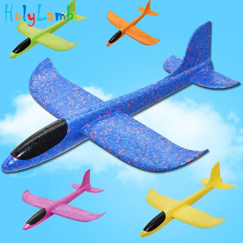 48cm grande diversão ao ar livre esportes ultra-leve mão jogando avião modelo espuma aeronaves crianças jogando planador brinquedos para crianças