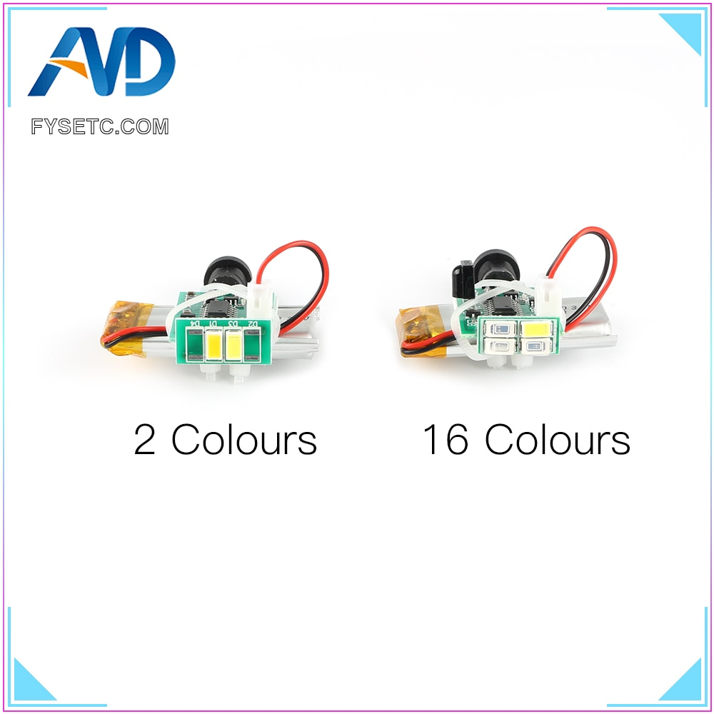 3D Printed Lamp Board 2 / 16 Colors Usb Touch Light Board 3d Printing Moon Lamp Board With Battery L