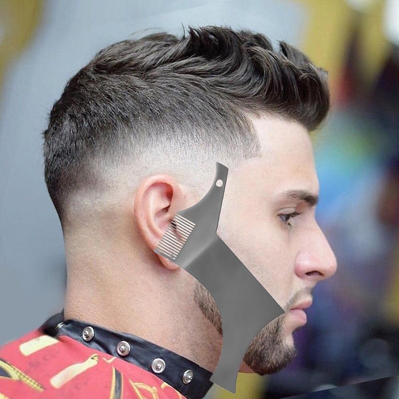 1 Pcs Symmetry Beard Shaper Stencil Trimming Styling Template Comb Barber Tool HY99