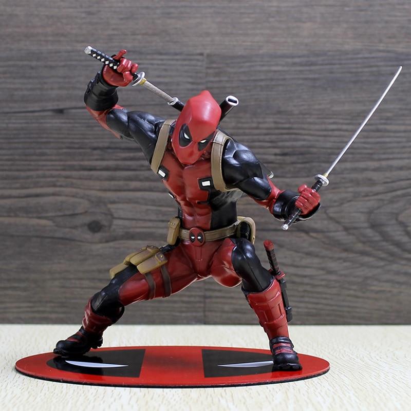 Deadpool figura Wade Wilson ARTFX + X hombres X-MEN Arma X guerra CIVIL Wolverine de PVC MODELO DE figura de acción de juguete para regalo