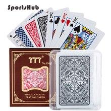 SPORTSHUB Matting Top cartas de plástico impermeable negro plástico naipes regalo creativo póker duradero NR0127