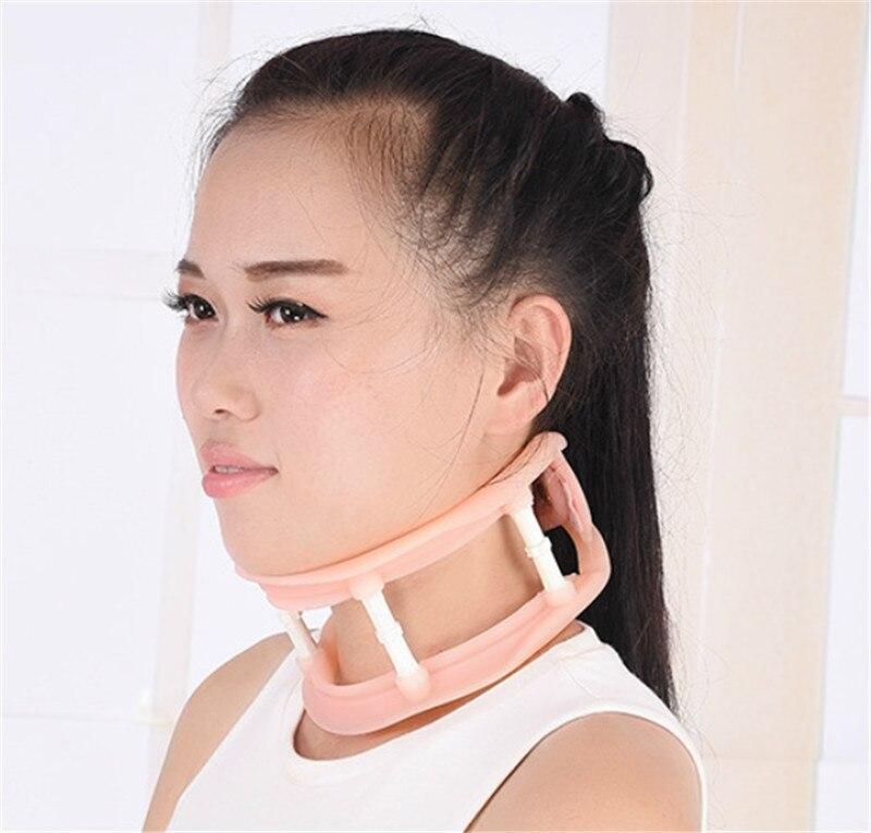 Altura ajustável pescoço suporte silicone cervical colar cervical vértebra trator separado colar suporte ortopedia