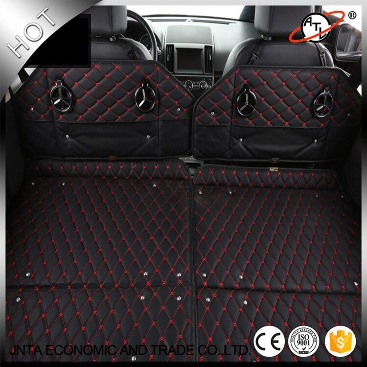 Novo tipo multifuncional de couro top car estiva tidying car tronco caixa de armazenamento de cama de carro assento de carro de volta mesa de jantar-