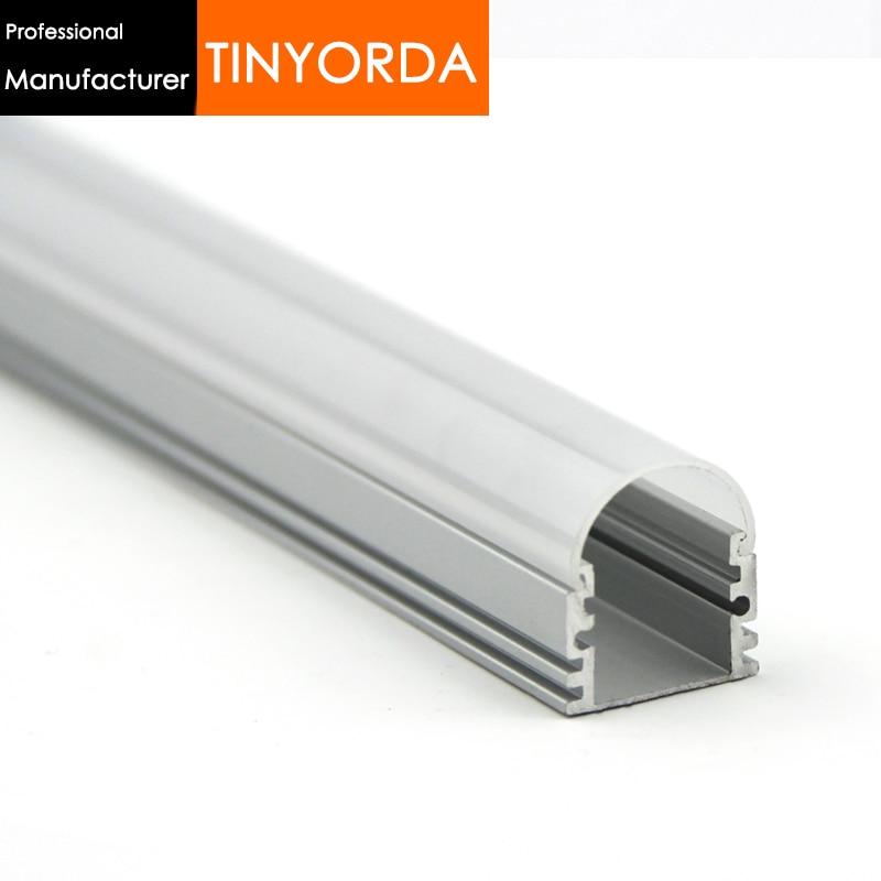 Tinyorda 100Pcs (1M Length) Led Alu Profile  Led Channel Profil for 12mm LED Strip Light [Professional Manufacturer]TAB1719