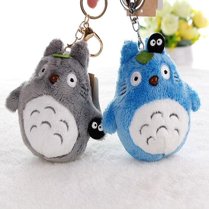 LLavero de 10 uds, bonito llavero alto de 10cm My Neighbor Totoro Studio Ghibli Hayao Miyazaki Colgante animal, llavero para bolso
