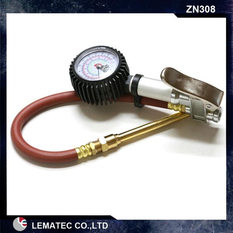 LEMATEC-مقياس ضغط الهواء للإطارات ، مقياس ضغط الهواء مع مسدس نفخ الإطارات ، 220 Psi