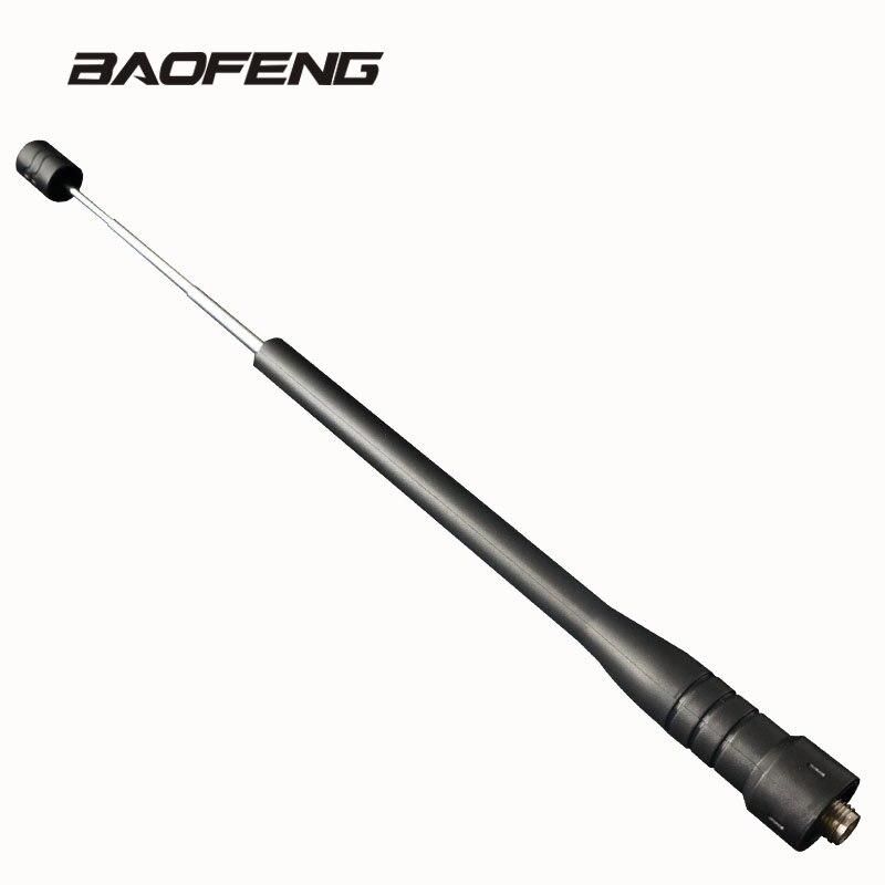 Baofeng – tige télescopique antenne à gain pour talkie-walkie, double bande UHF pour Radio Portable UV-5R BF-888S UV-5RE UV-82 UV-3R