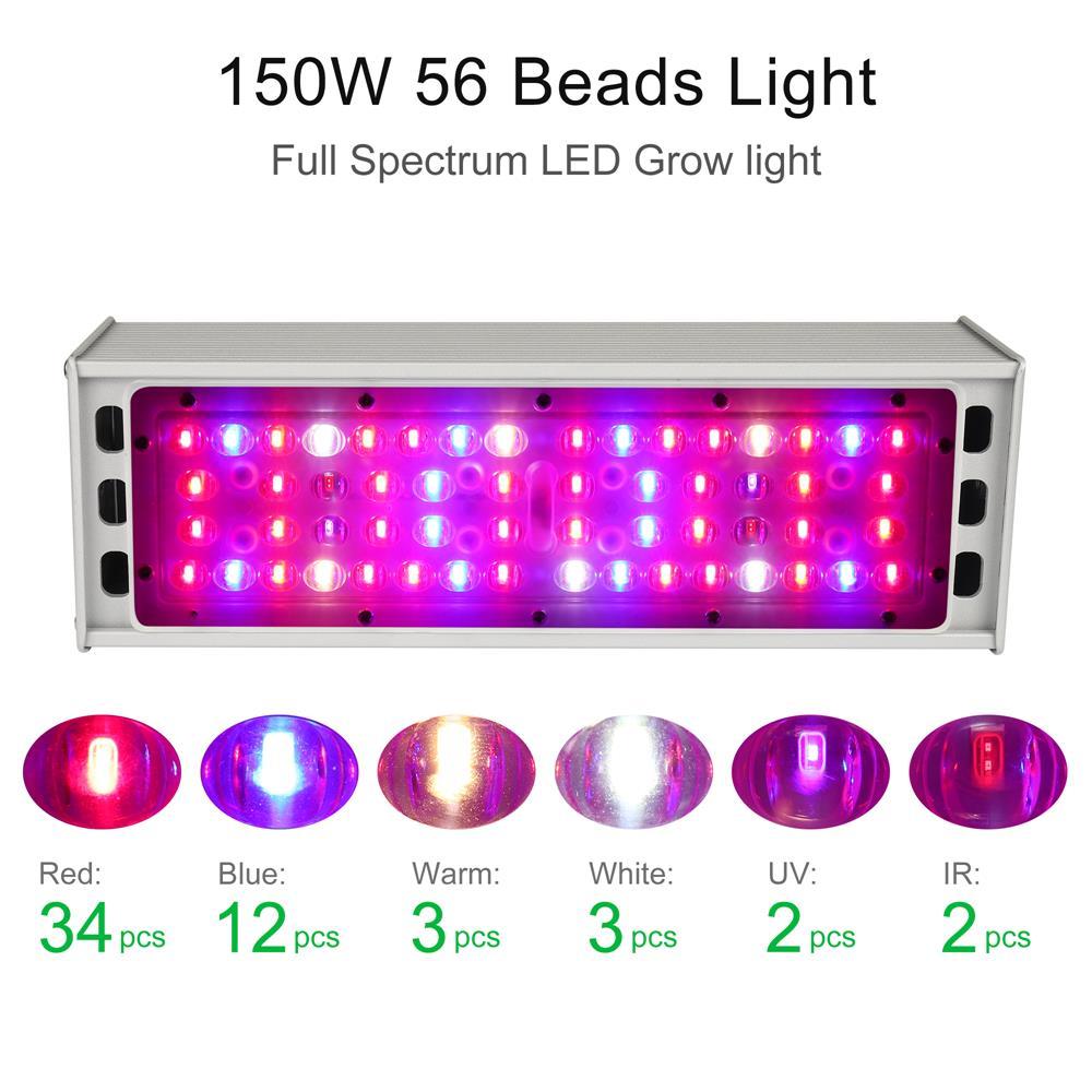 150W LED Grow Light Waterproof IP65 Full Spectrum Lamp phytolamp For Indoor Plants Greenhouse Vegs Flowers Hydroponics Grow Tent enlarge