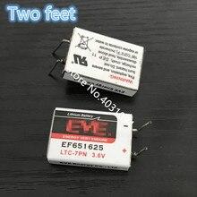 1 Uds nuevo EF651625 651625 batería 3,6 V Litio y litio cuadrado batería pies pierna dip2