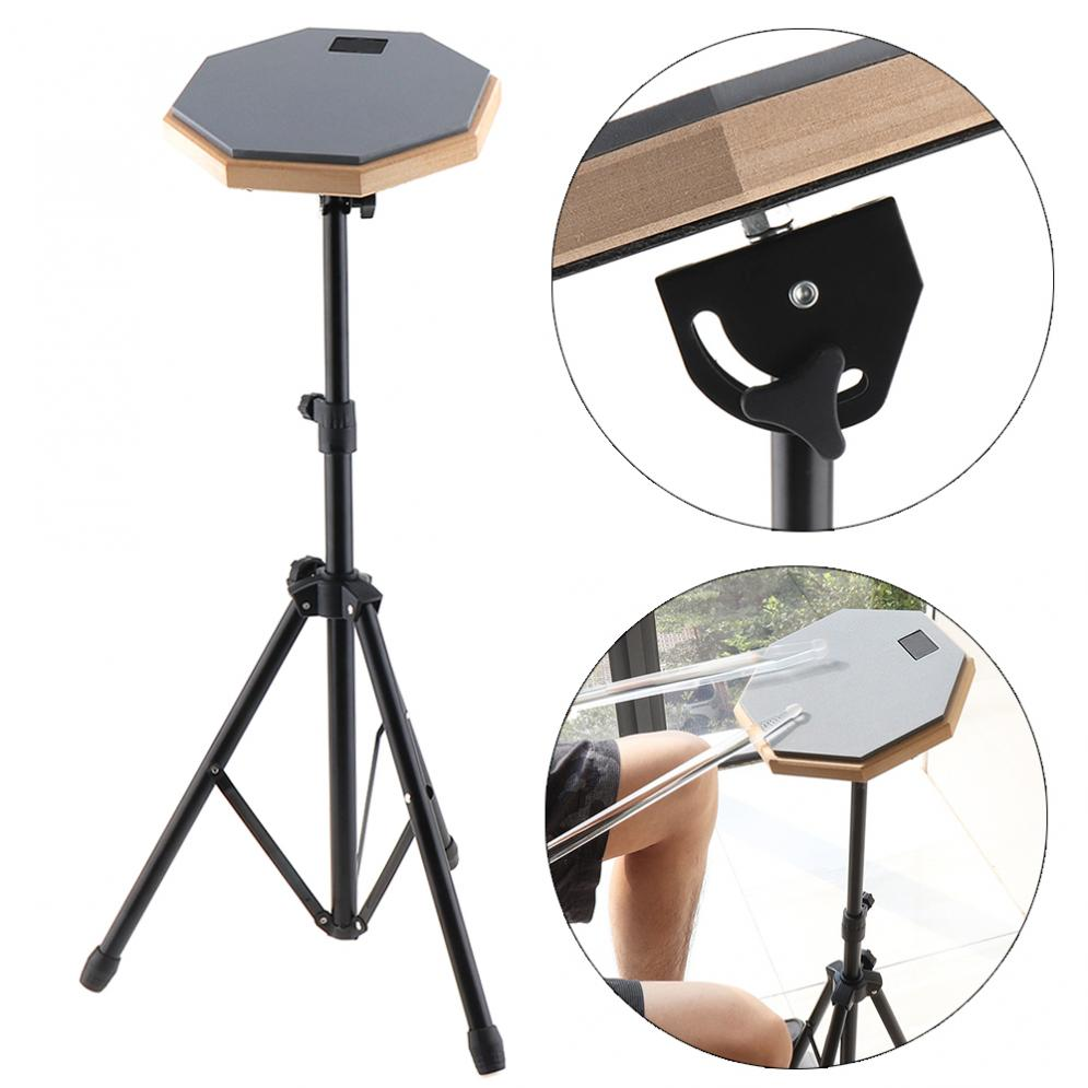 8 Inch Rubber Wooden Dumb Drum Beginner Practice Training Drum Pad with Stand / Stick Optional for Percussion Instruments Parts enlarge