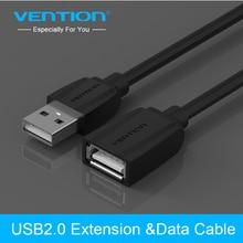 Vention USB 2.0 rallonge mâle à femelle USB câble rallonge USB 1m 1.5m 2m 3m rallonge de cordon pour PC portable HD