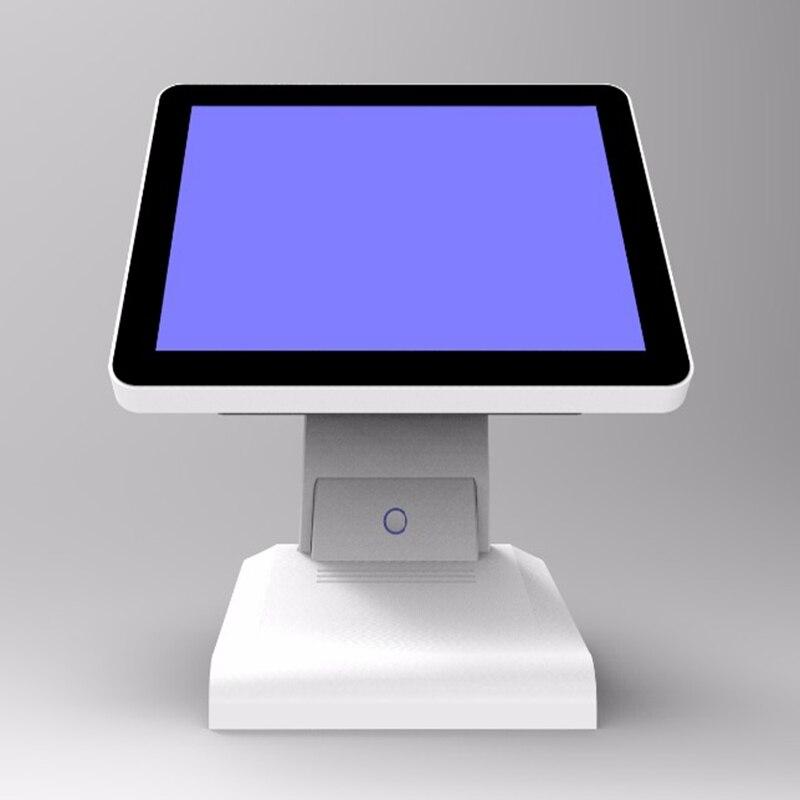 Novo estoque I5 4200U 8G Msata128G DDR SSD WI-FI 15 polegada capacitiva touch Screen all in one POS Terminal com leitor de cartão de MSR