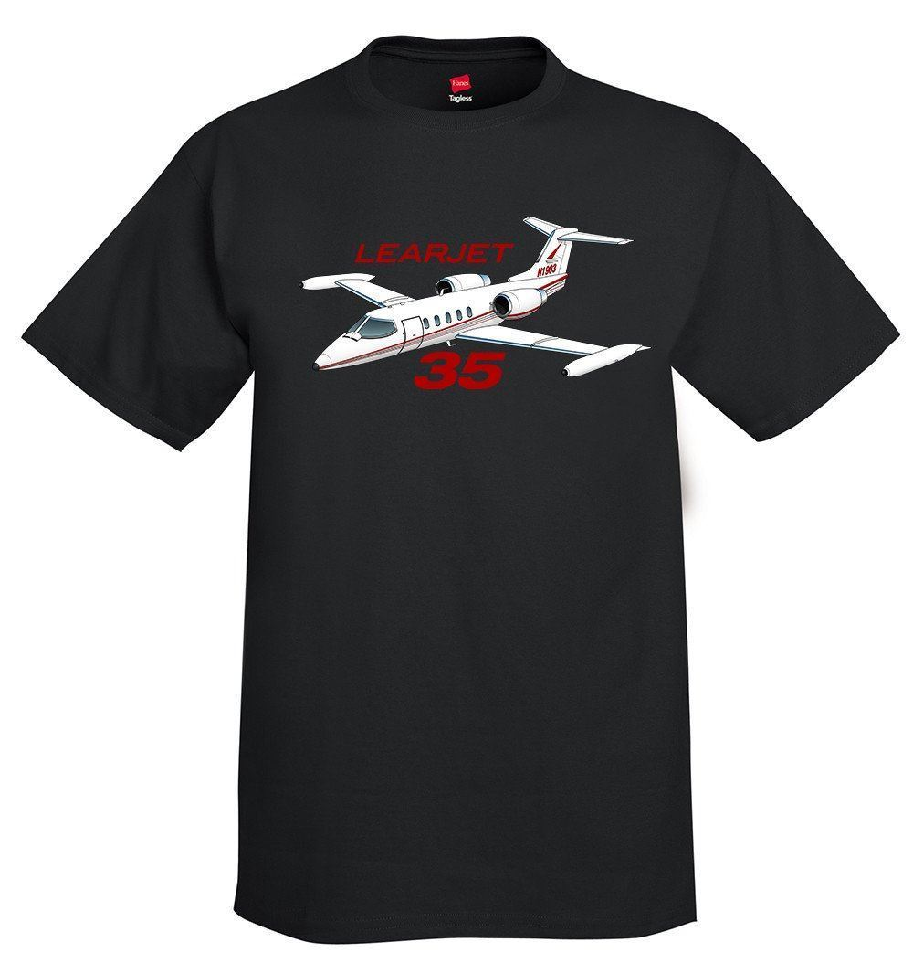 2019 nuevos hombres Camisetas cuello redondo Learjet 35 avión camiseta-personalizada con tus camisetas sudadera