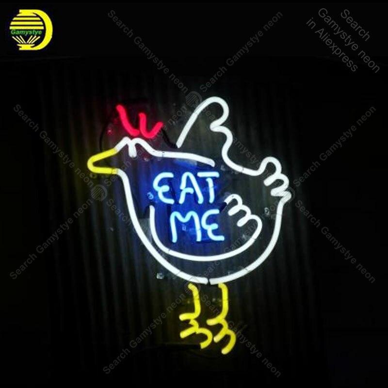 النيون علامة الطيور النيون علامات أكل لي أنبوب زجاجي النيون لمبة لافتة تزيين فندق wineshop مطعم يدويا ضوء المصباح حتى