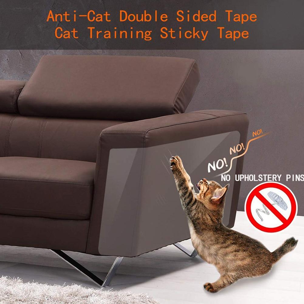 8 unids/set gato rascador cinta disuasoria antiarañazos pegatina duradera alfombra transparente sofá protección muebles Entrenamiento de mascotas asientos