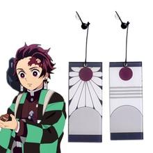 Anime Demon Slayer Kimetsu no Yaiba Kamado Tanjirou Earrings Eardrop Ear Ring Cosplay Props Ear stud Ear clip Accessores Gifts