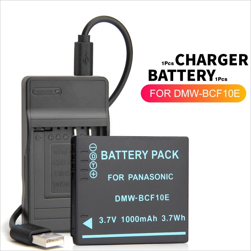 Аккумулятор BCF10 для Panasonic Lumix, сменная батарея для камеры, с зарядкой, для Panasonic Lumix, с зарядным устройством, с зарядным устройством, для камеры,...